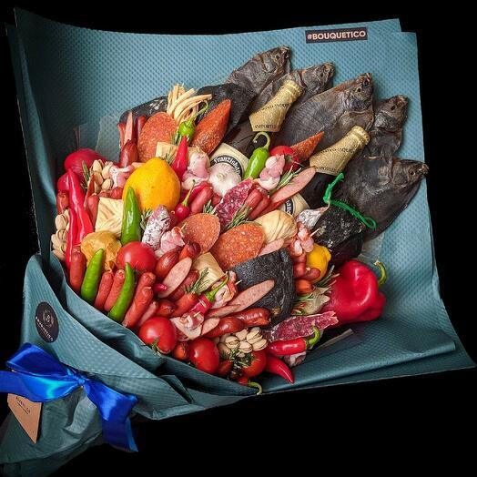Мега букет из деликатесов