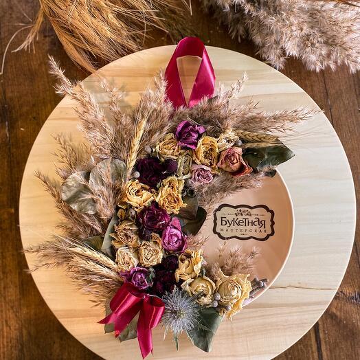 Декоративная тарелочка-панно «Тепло осени»