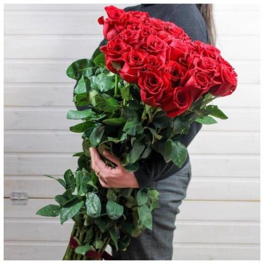 Высокие розы эквадор 100 см