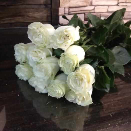 Букет из 11 белых голландских роз 80 см: букеты цветов на заказ Flowwow