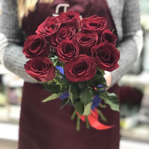 Букет из 11 красных роз 70 см: букеты цветов на заказ Flowwow