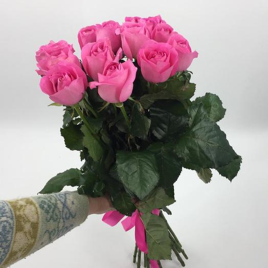 Букет из 15 розовых кенийская роза: букеты цветов на заказ Flowwow