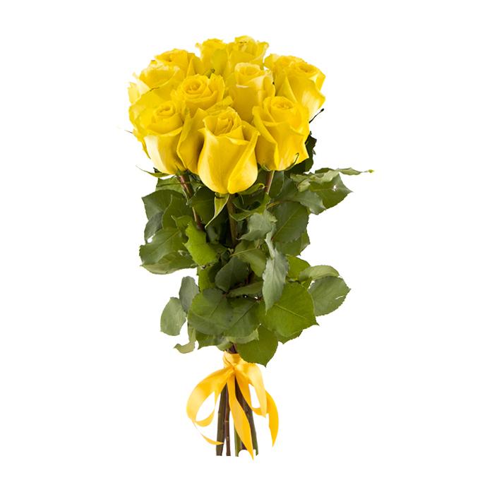Букет из 11 желтых роз 60 см: букеты цветов на заказ FlowWow