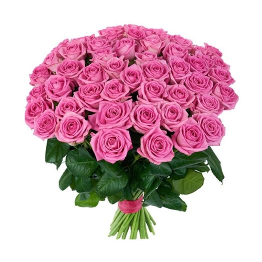 Букет из 55 розовых роз 50 см: букеты цветов на заказ Flowwow