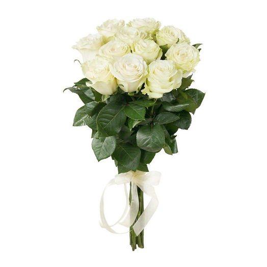Букет из 10 белых роз 50 см: букеты цветов на заказ Flowwow