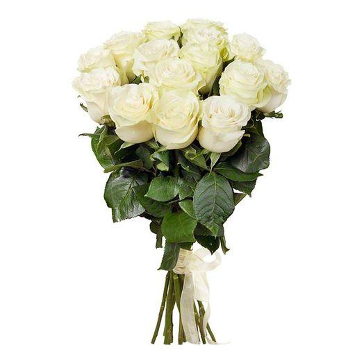 Букет из 13 белых роз 60 см: букеты цветов на заказ Flowwow