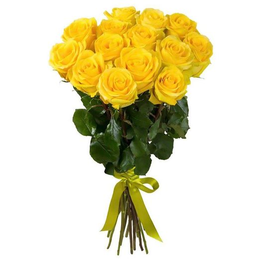 Букет из 15 желтых роз 60 см: букеты цветов на заказ Flowwow