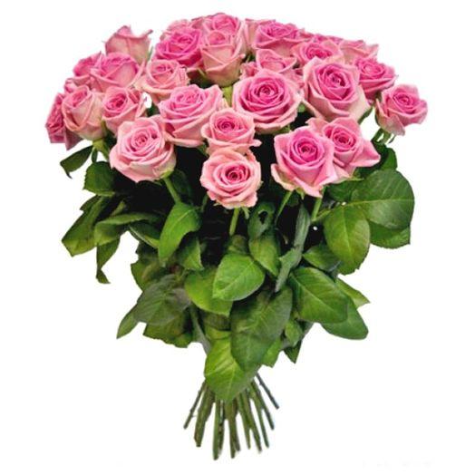 Букет из 21 розовой голландской розы 60 см: букеты цветов на заказ Flowwow