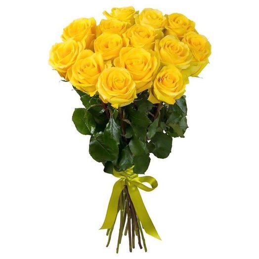 Букет из 15 желтых голландских роз 70 см: букеты цветов на заказ Flowwow