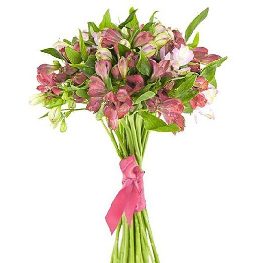 Букет из 15 розовых альстромерий: букеты цветов на заказ Flowwow