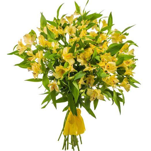 Букет из 10 желтых альстромерий: букеты цветов на заказ Flowwow