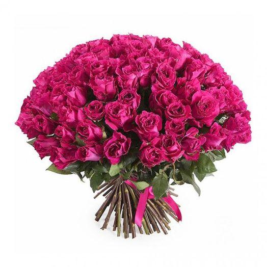 Букет из 101 розовой кенийская роза: букеты цветов на заказ Flowwow