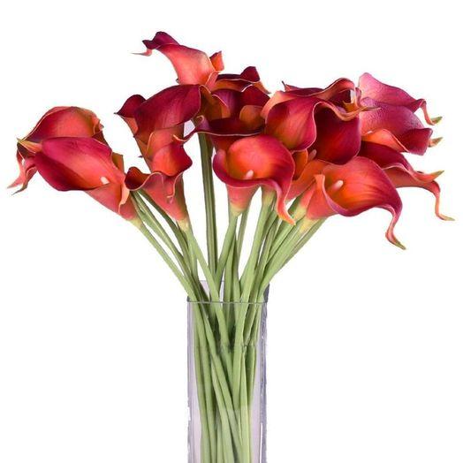 Букет из 25 красных калл: букеты цветов на заказ Flowwow