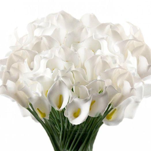 Букет из 151 белой каллы: букеты цветов на заказ Flowwow