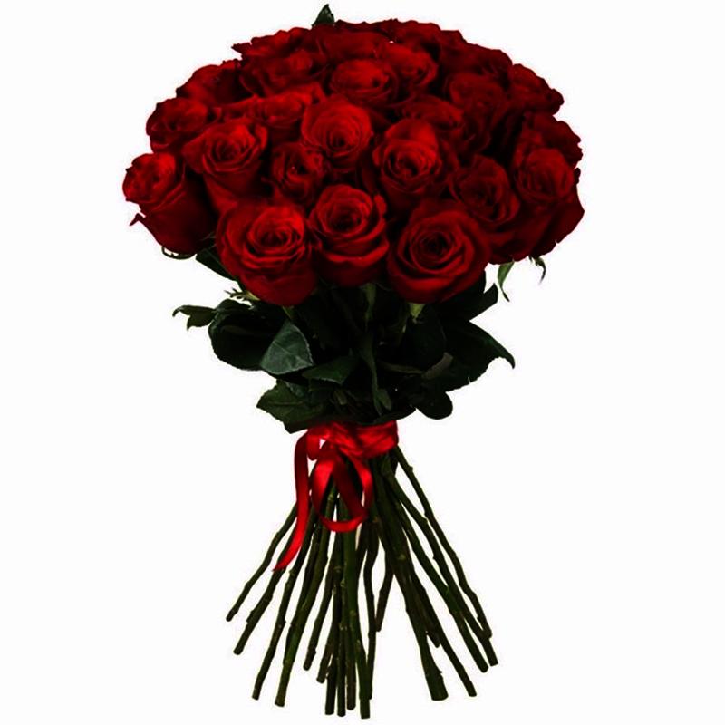 Букет из 25 красных роз 70 см: букеты цветов на заказ Flowwow