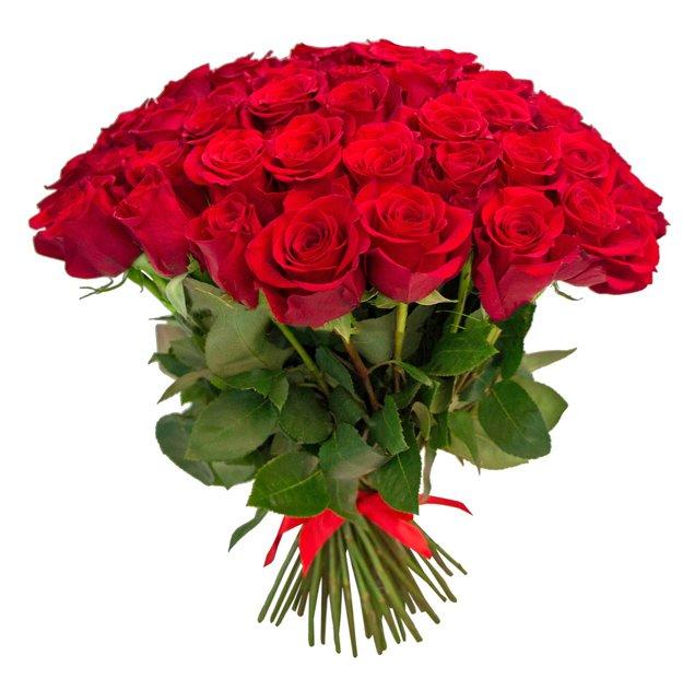 Букет из 30 красных роз 60 см: букеты цветов на заказ Flowwow