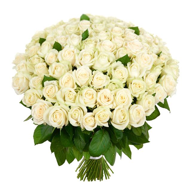 Букет из 75 белых роз 60 см: букеты цветов на заказ Flowwow