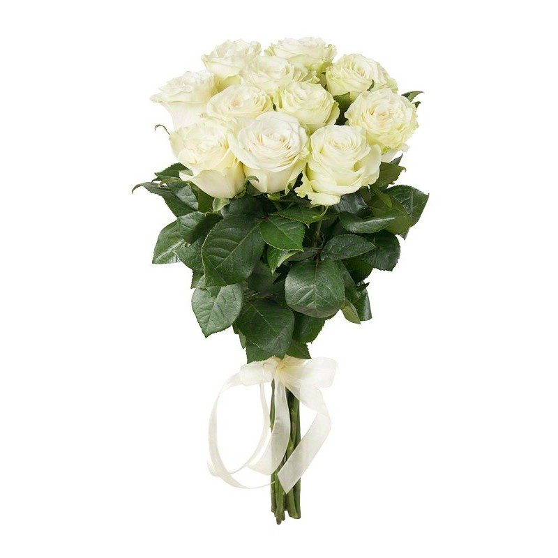 Букет из 11 белых роз 60 см: букеты цветов на заказ Flowwow