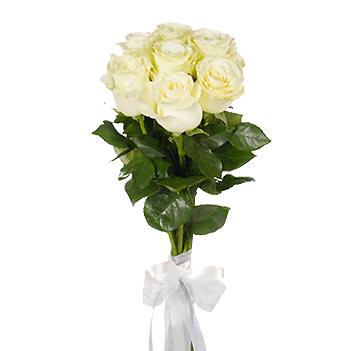 Букет из 7 белых роз >1 м: букеты цветов на заказ Flowwow