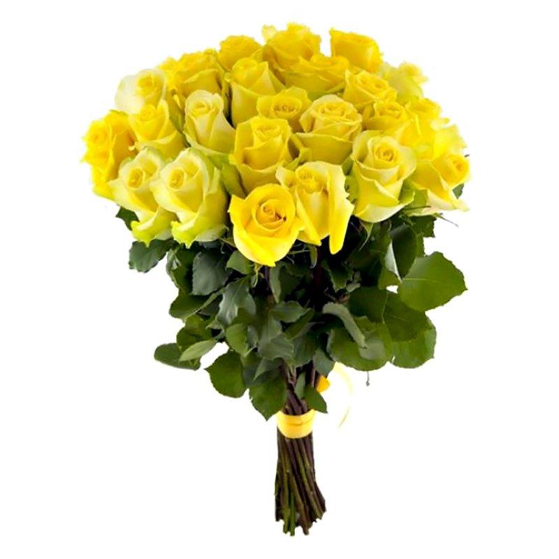 Букет из 25 желтых роз 60 см: букеты цветов на заказ Flowwow