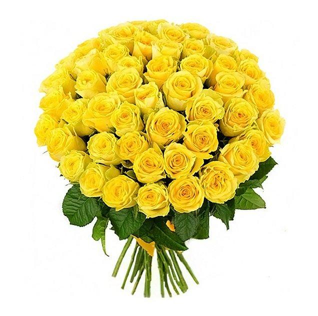 Букет из 45 желтых роз 60 см: букеты цветов на заказ Flowwow