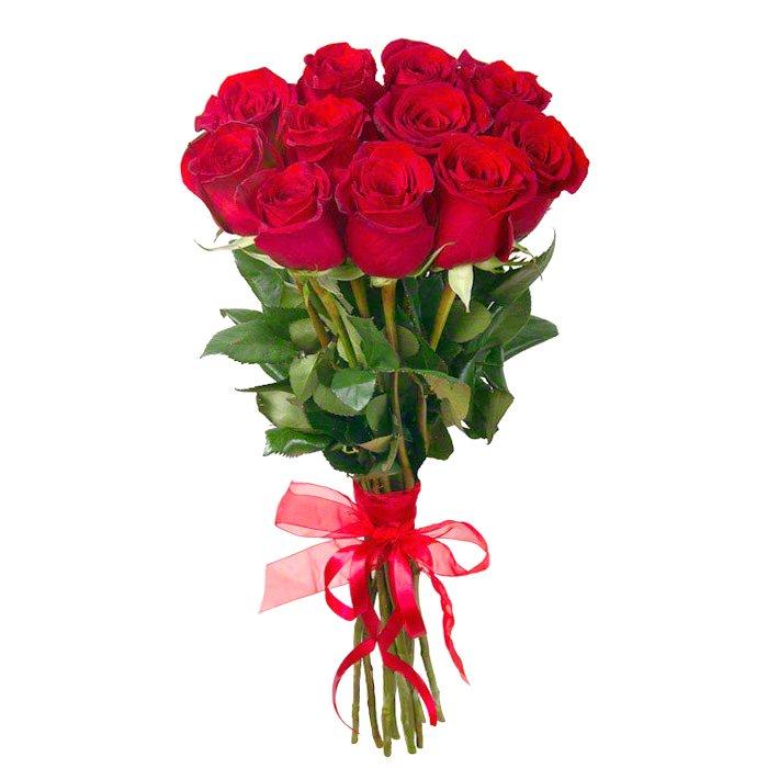 Букет из 11 красных голландских роз 50 см: букеты цветов на заказ Flowwow
