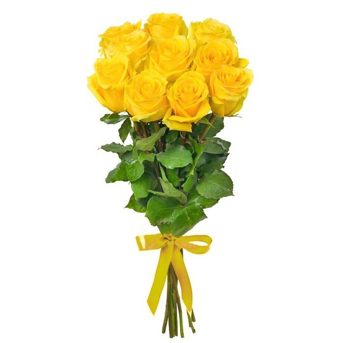 Букет из 11 желтых голландских роз 50 см: букеты цветов на заказ Flowwow