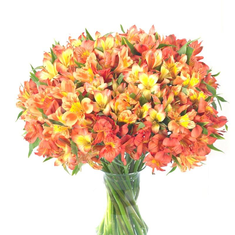 Букет из 35 желтых альстромерий: букеты цветов на заказ Flowwow