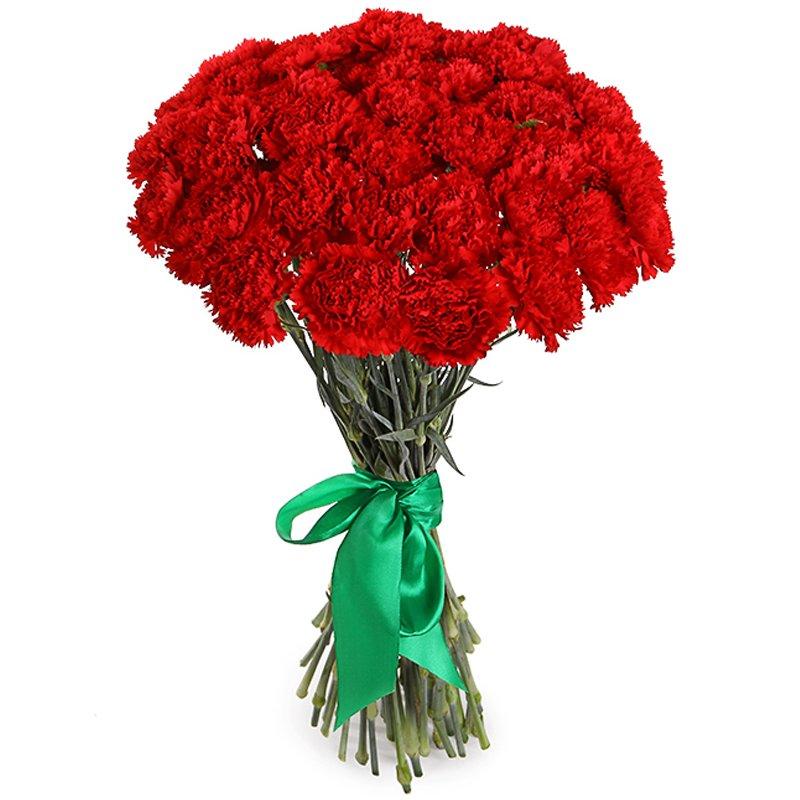 Букет из 35 красных гвоздик: букеты цветов на заказ Flowwow